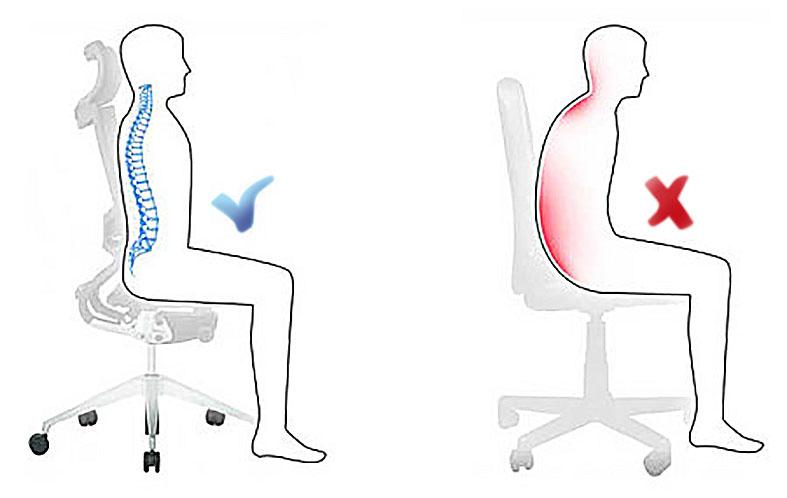Posturas correctas en el puesto de trabajo blog el insignia for Sillas para una buena postura