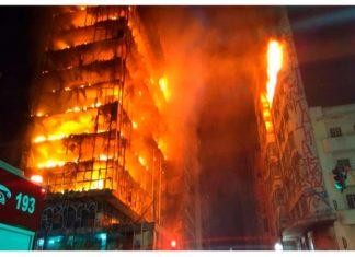 Brasil en llamas: se derrumba la torre de San Pablo